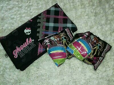 Monster High Pencil Case And 2 X Bracelet Packs • 2.99£