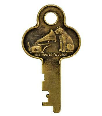 HIS MASTERS VOICE Key 460/461 - HMV Key - Phonograph Key - Nipper - Ref.k266 • 125£