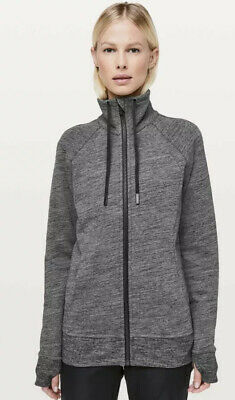 $ CDN14 • Buy Lululemon Huddle & Hustle Jacket Heathered Core Gray Zip Sz 8 Could Fit 10 NWOT