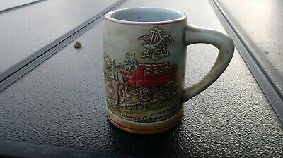$ CDN13.17 • Buy Budweiser Champion Clydesdales Beer Stein Brown Colored Rare