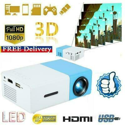 AU63.70 • Buy YG300 1080P HD Home Theater Cinema USB HDMI AV SD Mini Portable HD LED Projector