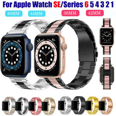 $ CDN11.43 • Buy Stainless Steel For Apple Watch Series6 5 4 SE Bracelet Strap Metal Band 40/44mm