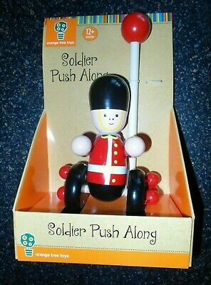 John Lewis WOODEN Push Along Soldier Toy 12+ Months - New In Box Handle Missing  • 2.99£