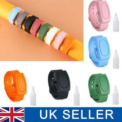 Silicone Bracelet Band Portable Soap Dispenser Hand Wash Gel Squeeze Wristband~ • 3.99£
