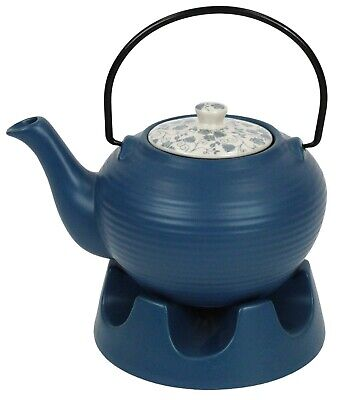 Japanese Teapot Light Blue Striped & Teapot Warmer Ceramic Jameson Tailor 6 Cup • 13.99£