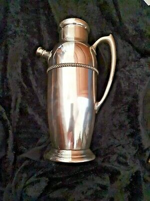 Vintage  Poole Silver Cocktail Shaker • 50£