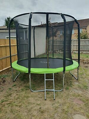 £339.99 • Buy 14FT Trampoline With Internal Safety Net Enclosure, Ladder+Rain Cover (48hr Del)