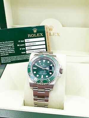 $ CDN26175.44 • Buy Rolex 116610LV HULK Green Ceramic Submariner Stainless Steel Box Papers 2012
