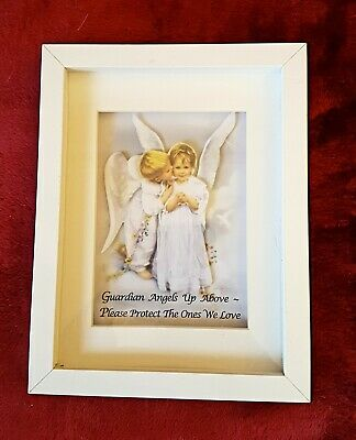 Guardian Angel 3d Box Picture, Unique, Hand Made, NEW, 10.5 X 8 Inch  • 15£