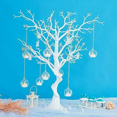 76cm Artificial White Tree - Table Centrepiece For Christmas, Weddings • 39.99£