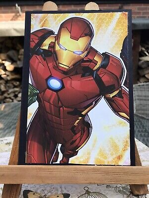 Handmade Iron Man Superhero Birthday Card • 3£