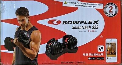$ CDN466.53 • Buy NEW Bowflex SelectTech 552 52 Pounds Adjustable Single Dumbbell Free Shipping