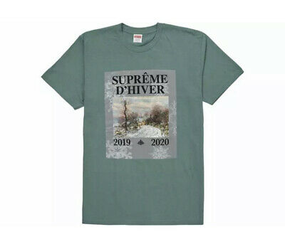 $ CDN97.32 • Buy SUPREME T-Shirt   D'HIVER    NEW Teal Large  100% Authentic MADE IN USA