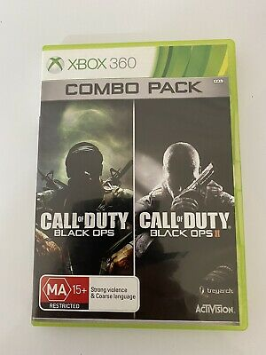 AU29 • Buy Call Of Duty Black Ops Combo Pack. Xbox 360. Black Ops 2 Disk Light Scratches.