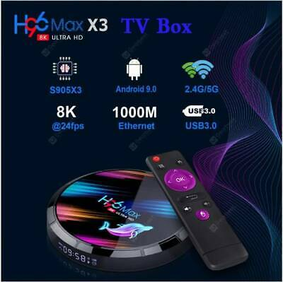 AU80 • Buy New 8K UHD H96 Max X3 Android 9.0 TV Box - Black 4GB RAM  32GB ROM Smart TV Box