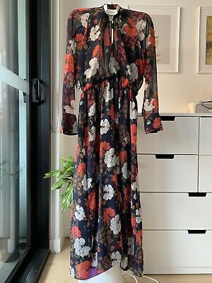 AU16 • Buy Zara Floral Maxi Dress Size M