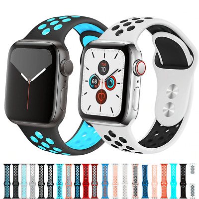 $ CDN7.77 • Buy For Apple Watch Series 5 4 3 2 Sports Silicone Band Strap Bracelet 38 42 40 44mm