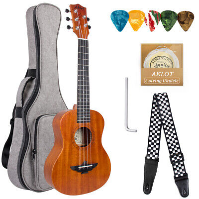 AU75.99 • Buy 5 String Ukulele Tenor Uke With Strap Strings Picks Gig Bag Aklot