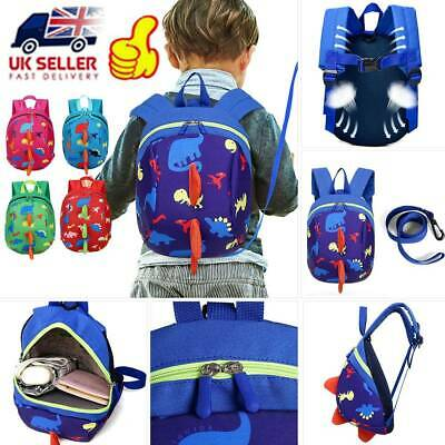 Baby Toddler Backpack Kids Safety Strap Dinosaur Harness Reins-Cartoon Bags UK • 6.07£