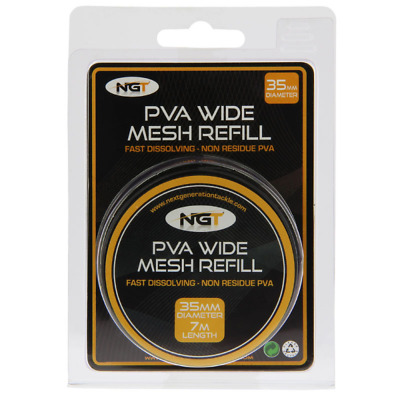NGT PVA Wide 35mm 7m Mesh Refill • 4.95£