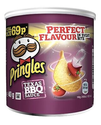 PRINGLES TEXAS BBQ SAUCE 40G 69P PMP Case Of 12 • 10£