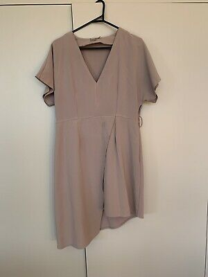 AU15 • Buy Asos Nude Asymmetrical Dress Size 14