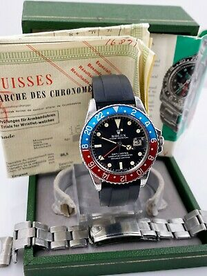 $ CDN41867.12 • Buy Vintage Rolex GMT Master 1675 Pepsi Red Blue Box Papers Year 1967