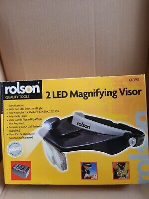Rolson Light Head Magnifying Glass 60391 Brand New Boxed Loupe LED Visor Magnify • 14.99£