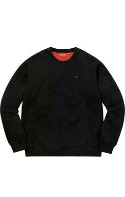 $ CDN59.99 • Buy Supreme Small Box Logo Contrast Crewneck Sweatshirt - Large - BLACK