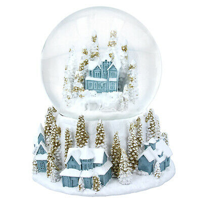 Gisela Graham Snowy Village Snow Globe Nordic Scandi Christmas Ornament Xmas • 29.95£