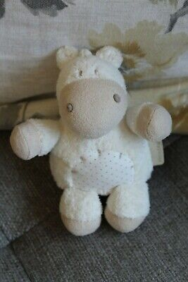 Mamas & Papas Parsley Cow Soft Toy Teddy Comforter • 12.50£