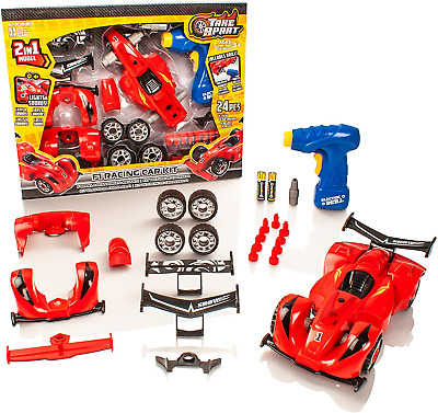£10.60 • Buy Take Apart® Construction Toy - 2 In 1 F1 Racing Car Kit - Build Your Own Set For