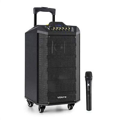 Mobile PA System Party Bluetooth Speaker USB SD UHF Microphone 250 W Sound Hi Fi • 129.99£