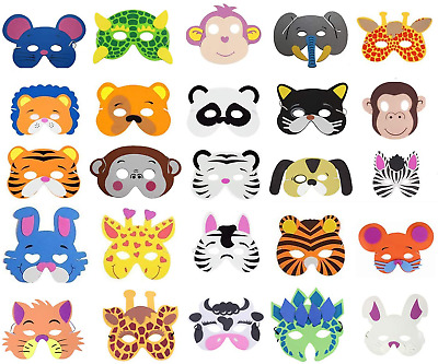 COSORO 25 Kids Eva Foam Animal Masks For Party Bag Fillers,Masquerade,Birthday • 9.92£