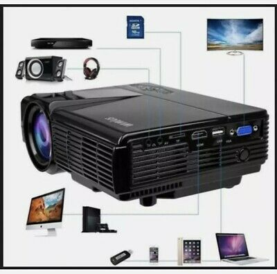 Wimius T3 Full HD 1080P Multimedia Home Cinema Projector For IPhone DVD HDMI USB • 68.60£