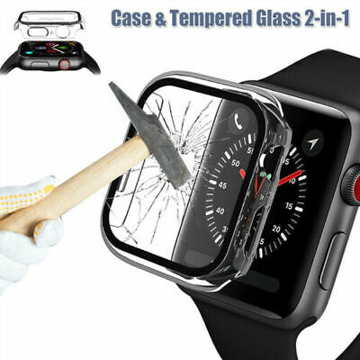 $ CDN4.41 • Buy For Apple Watch Series 6 SE 5 4 3 2 Full Body Cover Case Tempered Glass Protect