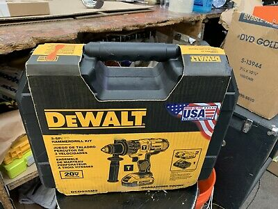 $199 • Buy DEWALT DCD985 20V MAX Cordless 1/2  Premium 3-Speed Hammer Drill Kit - USA MADE