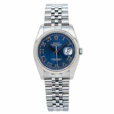 $ CDN9382.04 • Buy Rolex Datejust 116234 Jubilee Unisex Automatic Watch Blue Dial Stainless 36mm