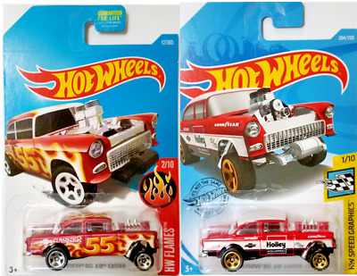 $6 • Buy Hot Wheels '55 Chevy Bel Air Gasser Lot Of 2 Different