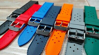 £11.99 • Buy VARIOUS COLOR TROPIC Silicone Watch Strap. High Quality. UK Stock. VARIOUS SIZES