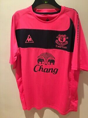 Everton Away Shirt 2011 Chang Beer Mens Xl Le Coq Sportif Great Condition • 5£