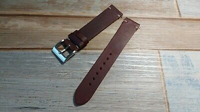 Vintage Style, Dark Brown Calf Leather Watch Strap. Various Sizes. New. • 12.99£