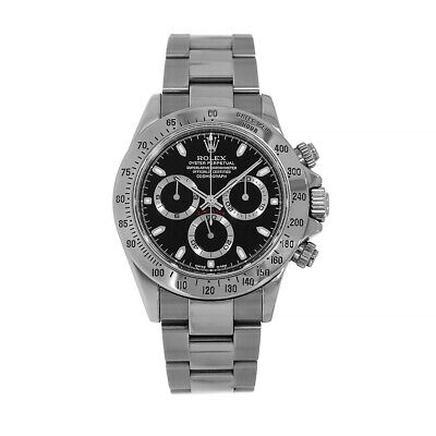 $ CDN36461.64 • Buy Rolex Cosmograph Daytona Stainless Steel Black Dial Watch 116520