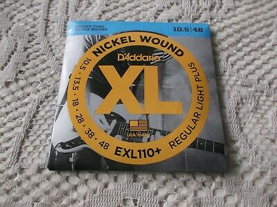 $ CDN8.75 • Buy (01) Set D Addario Regular Light Plus  Electric Guitar Strings10.5-48 EXL110+