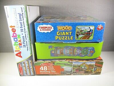 ⭐️Crocodile Creek Space Ship Tower Kids Floor Puzzle (lot Of 4)28-48 Pc Complete • 4.49£