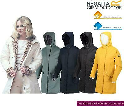Regatta Womens Rimona Insulated Hooded Waterproof Parka Jacket Zip Coat • 42.99£