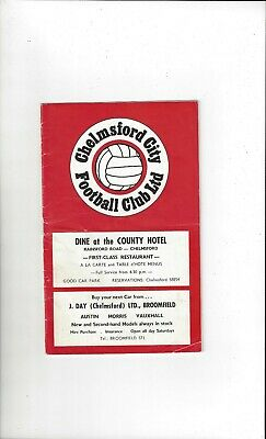 £4 • Buy Chelmsford City V Hereford United FA Cup Football Programme 1969/70