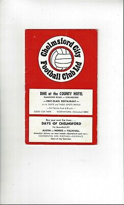 £3.50 • Buy Chelmsford City V Torquay United FA Cup Football Programme 1970/71