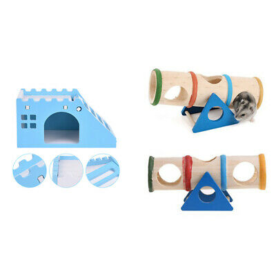 £7.99 • Buy Pet Small Animal Playground - Wooden Seesaw Toy With Exquisite Hamster Hous S1H7