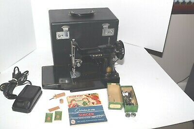 $399.95 • Buy Vintage 1955 Singer Model 221 Featherweight Sewing Machine And Acc. & Working